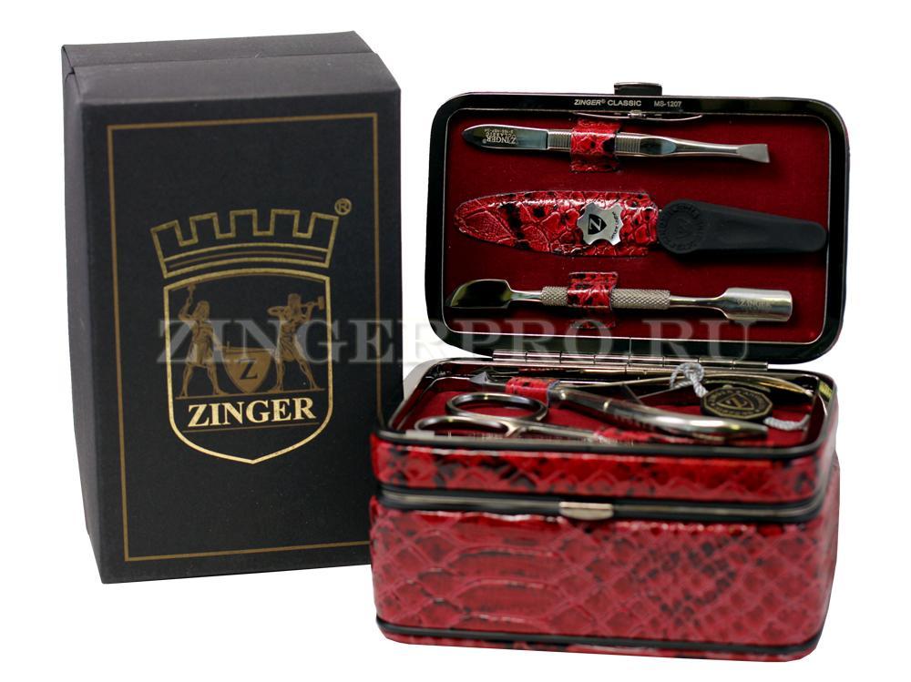 Набор для маникюра , 5 предметов, со шкатулкой Zinger zo-MS-1207-301 S