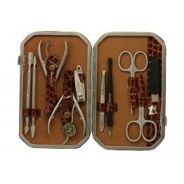 Набор для маникюра и педикюра, 10 предметов Zinger ze-MSFC-804-1-S