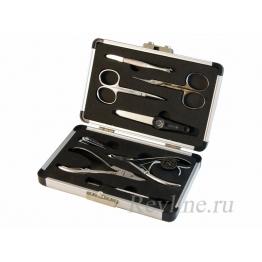 Набор маникюрно-педикюрный 8 предметов, дорожный, Zinger zo-66534-S