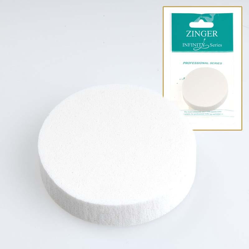 Спонж для макияжа, круглый, латекс (5.5х0.8см), 1шт INF-MJ-503 Zinger