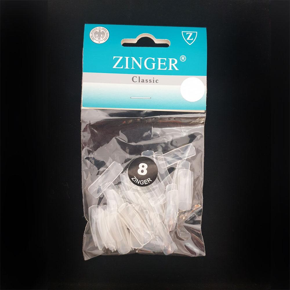 Типсы полупрозрачные с глубокой лункой (50шт) размер №8 Zinger zo-ST-05 Frosted Clear