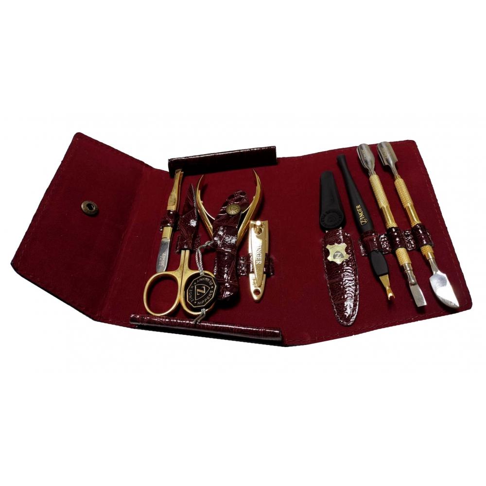 Маникюрный набор в виде кошелька, 8 предметов Zinger zo-MS-1402-2-G
