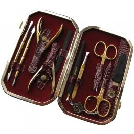 Набор для маникюра и педикюра, 10 предметов Zinger ze-MSFC-804-3-G